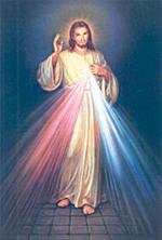 """Image plastifiée de la Miséricorde Divine """"j'ai confiance en Toi"""""""