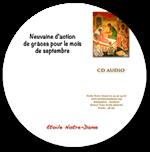 CD Neuvaine d'action de grâces - mois de septembre