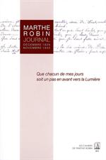 Marthe Robin Journal 1929 à 1932