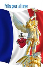 Image plastifiée de saint Michel - Prière pour la France