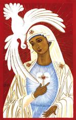 Image plastifiée Consécration assemblée de prière du Renouveau Charismatique