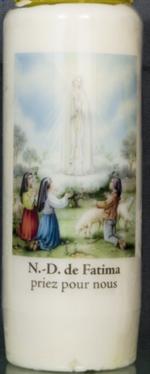 Bougie de Neuvaine : Notre de Fatima