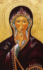 Image plastifiée à Notre Dame du Silence