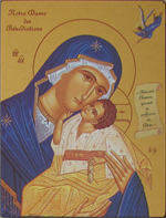 Icône Or Notre Dame des Bénédictions