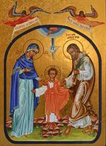 Icône La Sainte Famille - Fond Or - 194.63