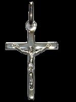 Croix avec Christ - Argent massif - 21 mm