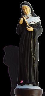 Statue de Sainte Rita - résine peinte - 16 cm