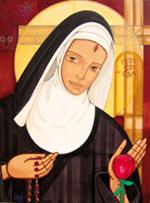 Image plastifiée de Sainte Rita de Casia