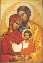 Icône Sainte Famille - 20 x 25 cm
