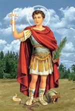 Image plastifiée de Saint Expédit