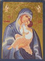 Icône Or Marie qui aime l'humanité 9x12 cm