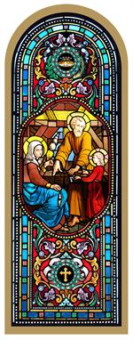 Cadre Icône doré Sainte Famille