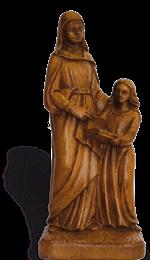 Sainte Anne et Marie - Ton bois - 23 cm