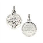 Médaille Saint Esprit - Métal imitation vieil argent - 18mm