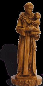 Saint Antoine - Ton bois - 23 cm