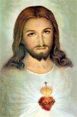 Image plastifiée du Sacré-Coeur