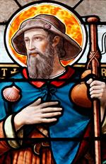 Image plastifiée à saint Roch