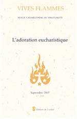 L'adoration eucharistique      Edition du Carmel