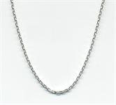 Chaîne argent massif - 25 cm - maille fine (012)
