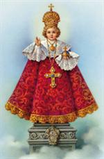 Image plastifiée Saint Enfant Jésus de Prague