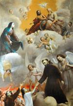 Image plastifiée des Ames du Purgatoire