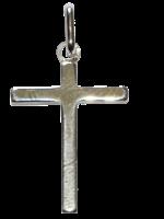 Croix lisse - Argent massif - 20 mm