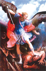 Image plastifiée de Saint Michel