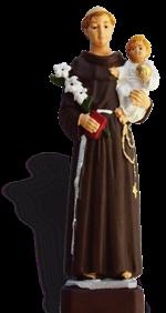 Statue Saint Antoine, résine peinte 16 cm