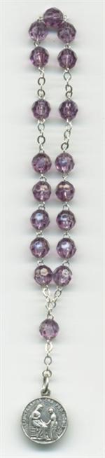 Chapelet de Sainte Anne perles violettes