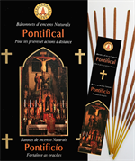 Encens naturel Pontifical - Lot de 12 boites de 10 batonnets