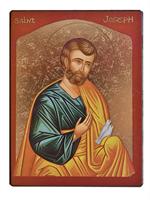 Icône Or St Joseph aux Colombes 13x16 cm