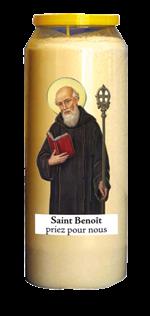 Bougie de neuvaine saint Benoît