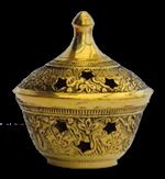 Brûle encens finition bronze - Hauteur 6 cm