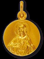 Médaille du scapulaire - Plaqué or - 16 mm