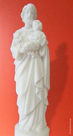Statue Saint Joseph en albâtre - 30 cm