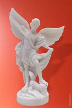Statue de Saint Michel en albâtre - 25 cm
