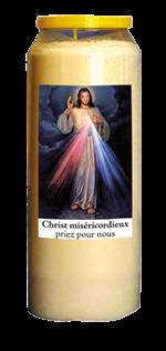 Bougie de neuvaine Miséricorde Divine