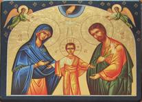 Icône Or La Sainte Famille aux Etoiles 12x15 cm