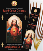 Encens naturel Sacré-Cœur de Jésus - Lot de 12 boites de 10 batonnets