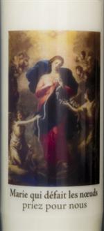 Bougie de neuvaine Marie qui défait les noeuds