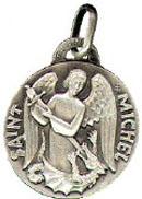 Médaille de Saint Michel - Métal argenté - 16 mm