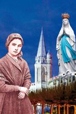 Image plastifiée de Notre Dame de Lourdes