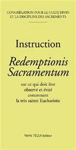 Instruction Redemptionis Sacramentum