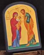 Icône de la Sainte Famille - Fond Or - 9 x 12 cm