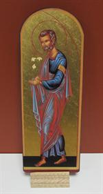 Icône de saint Joseph aux lys - Fond Or 9 x 25 cm