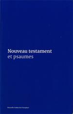 Nouveau testament et psaumes plastifié Bleu