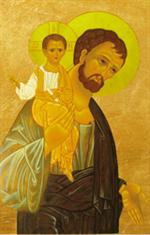 Image plastifiée de Saint Joseph classique