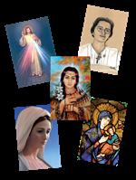 lot de 55 images religieuses