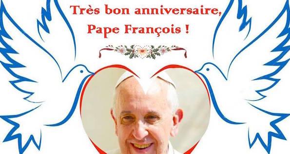 Joyeux Anniversaire Pape Francois Etoile Notre Dame